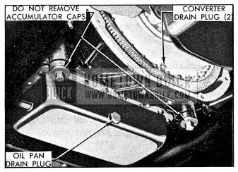 1954 Buick Dynaflow Transmission Drain Plugs
