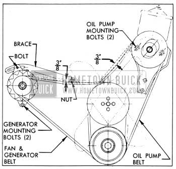 1954 Buick Fan Belt Adjustment