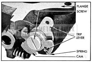 1954 Buick Fast Idle Cam, Spring, and Trip Lever