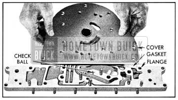 1954 Buick Front Oil Pump Cover and Reaction Shaft Flange