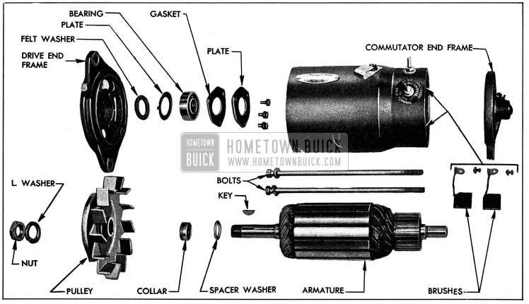 1954 Buick Generator Disassembled