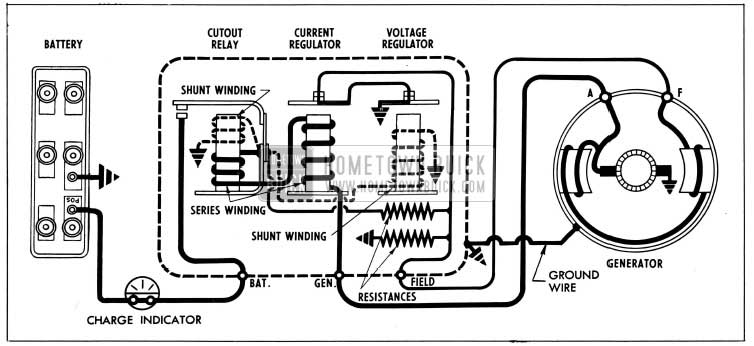 1954 Buick Generator Regulator in Generating Circuit