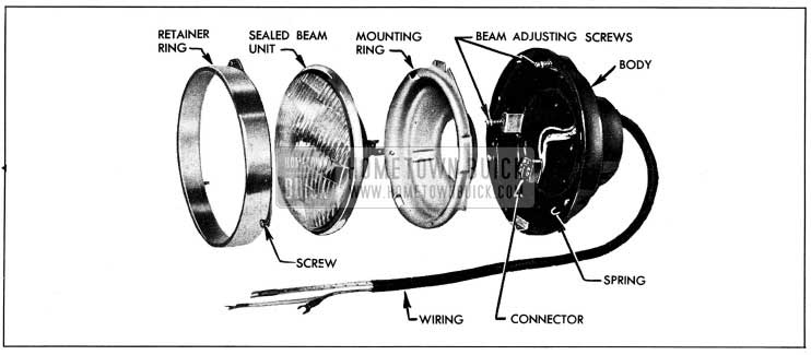 1954 Buick Headlamp Disassembled