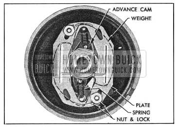 1954 Buick Installation of Advance Weights, Cam, Springs and Plate
