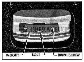 1954 Buick Installation of Balance Weight