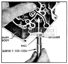 1954 Buick Installation of Intake Check Ball and Retainer