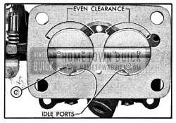1954 Buick Installatlon of Throttle Valves