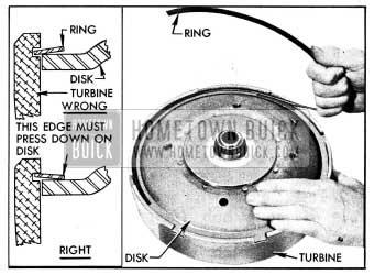 1954 Buick Installing Disk Retaining Ring