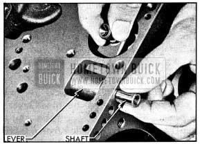 1954 Buick Installing low Band Operating Lever and Shaft