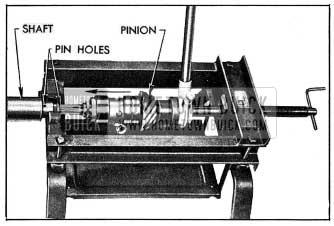 1954 Buick Installing Pinion on Shaft