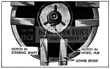 1954 Buick Location Marks on Steering Shaft and Wheel