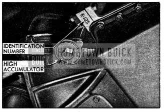 1954 Buick Location of Dynaflow Transmission Identification Number