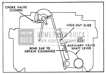 1954 Buick Lock-Out Slide Clearance With Choke Valve Closed