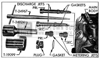 1954 Buick Main Metering and Discharge Jets and Tools