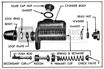 1954 Buick Master Brake Cylinder-Disassembled
