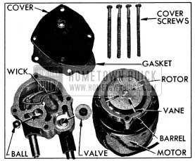 1954 Buick Morvac Vacuum Pump Parts