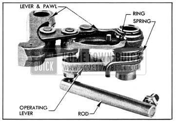 1954 Buick Parking Lock Pawl and Lever Assembly