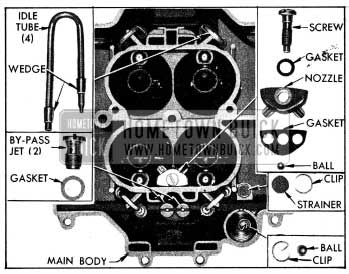 1954 Buick Parts in Main 4-Barrel Stromberg Carburetor Body