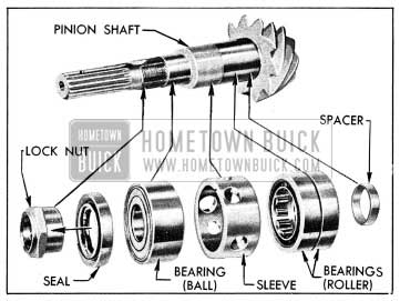 1954 Buick Pinion Shaft and Related Parts