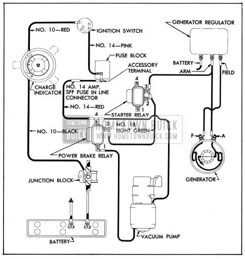 1954 buick wiring diagrams hometown buick1954 buick power brake vacuum pump wiring circuit diagram