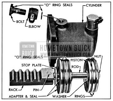 1954 Buick Power Cylinder and Rack Parts