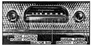 1954 Buick Receiver Controls-Selectronic Radio