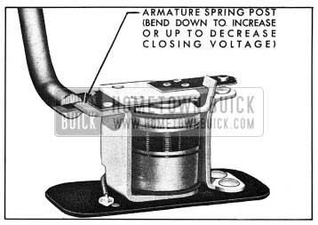 1954 Buick Relay Closing Voltage Adjustment