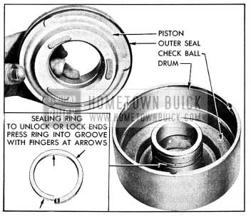 1954 Buick Removal of Clutch Piston and Oil Sealing Ring