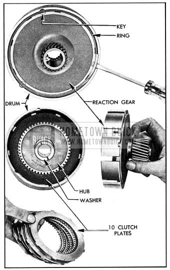 1954 Buick Removal of Reaction Gear, Hub, and Plates