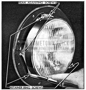 1954 Buick Removal of Sealed Beam Unit Retainer Ring
