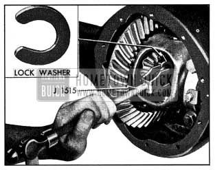 1954 Buick Removing Axle Shaft Lock Washer