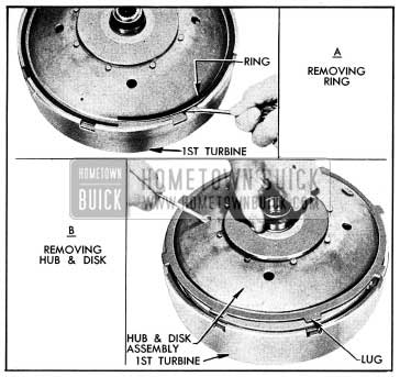 1954 Buick Removing Disk and Hub Assembly