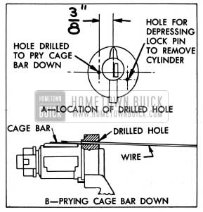 1954 Buick Removing Lock Cylinder having a Loose Cage Bar