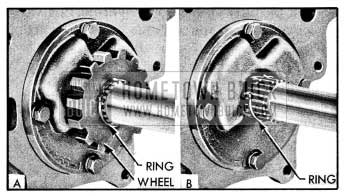 1954 Buick Removing Ratchet Wheel Retaining Ring