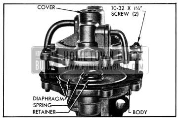 1954 Buick Removing Vacuum Cover
