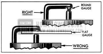 1954 Buick Right and Wrong Spark Plug Gauges