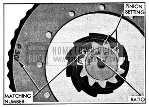 1954 Buick Ring and Pinion Gear Markings