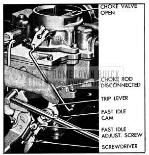1954 Buick Setting Carter Fast Idle-Carburetor on Engine