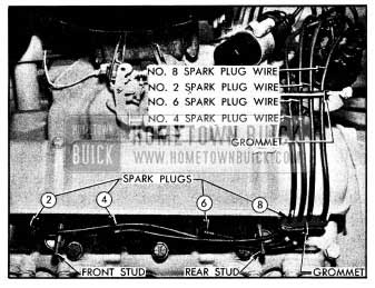1954 Buick Spark Plug Wires-Left Bank