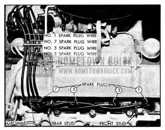 1954 Buick Spark Plug Wires-Right Bank