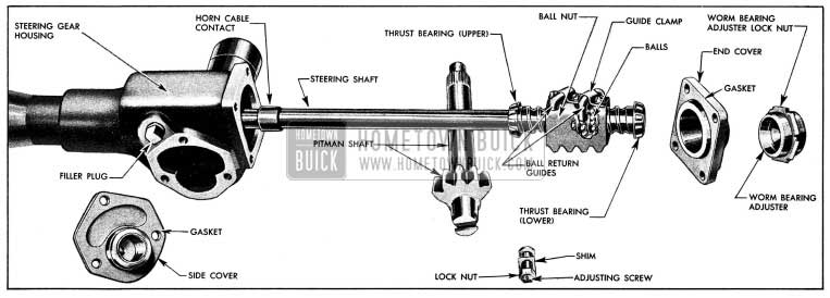 1954 Buick Steering Gear Disassembled