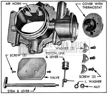 1954 Buick Stromberg Choke Control Parts