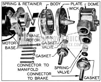 1954 Buick Trico Vacuum Pump Parts