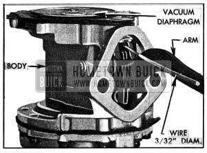 1954 Buick Vacuum Diaphragm Flexing Tool in Place
