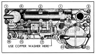 1954 Buick Valve and Servo Body Bolt Tightening Sequence