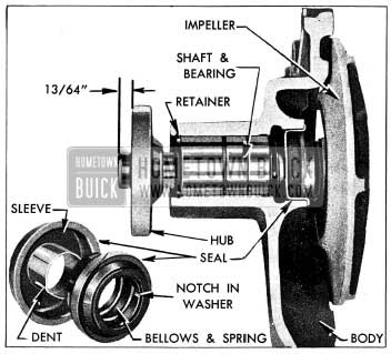 1954 Buick Water Pump Parts