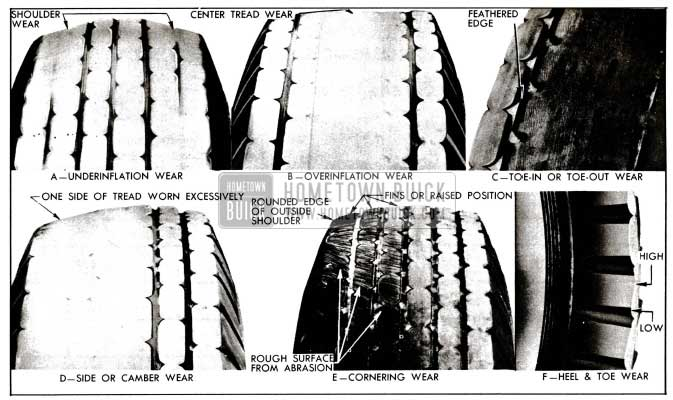 1955 Buick Abnormal Tire Tread Wear Patterns