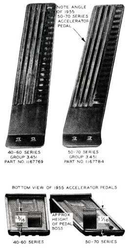 1955 Buick Accelerator Pedals