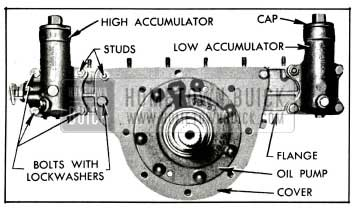 1955 Buick Accumulator Body and Reaction Shaft Flange Attaching Screws