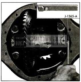 1955 Buick Adjusting Differential Bearings